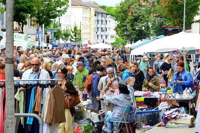 Am Samstag ist Flohmarkt auf der Habsburgerstraße
