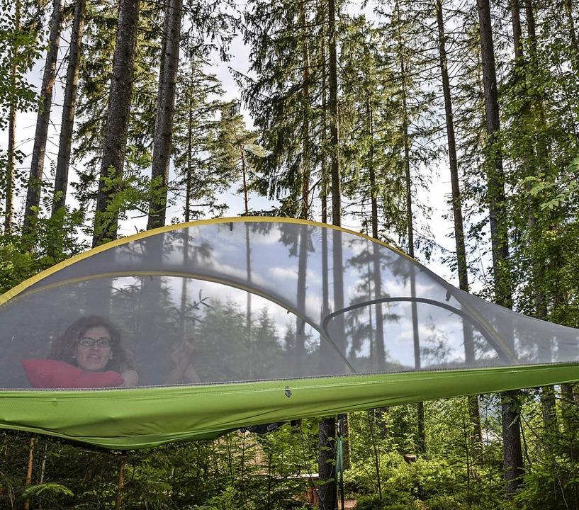 Schöne Aussichten: Campen im Baumzelt  | Foto: Anita Fertl