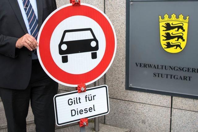 Diesel-Fahrverbote in Stuttgart kommen ab Jahresbeginn 2019
