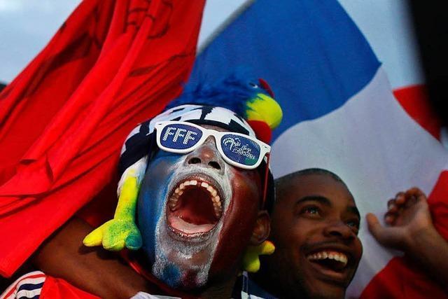 Fotos: So freuen sich Frankreichs Fans über den Einzug ins WM-Finale