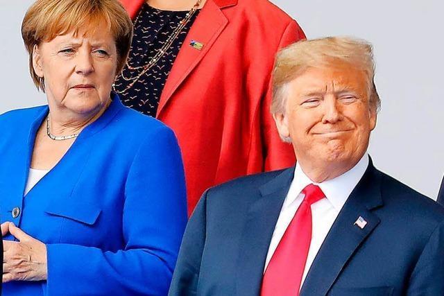 Trump sieht Deutschland wegen Gas-Abhängigkeit als