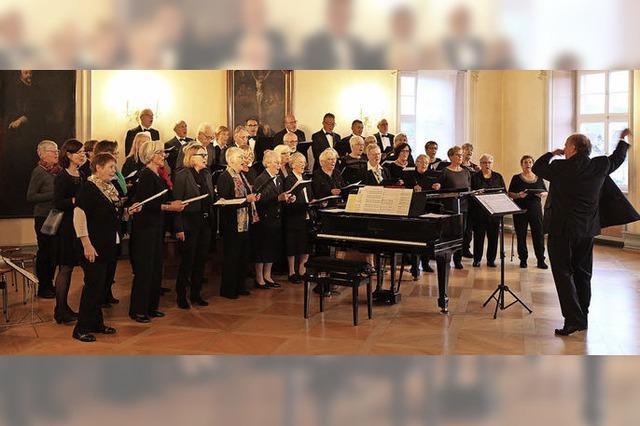 Der Kirchenchor St.Peter singt im Fürstensaal