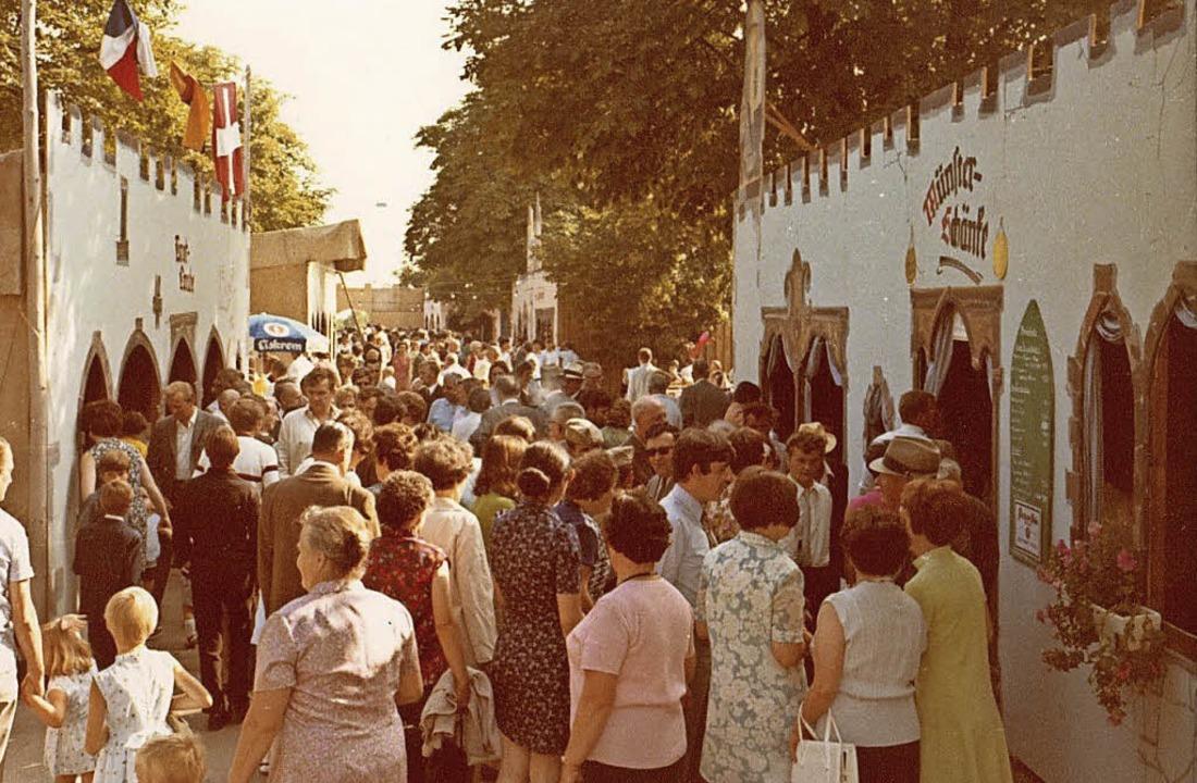 Das erste Nepomukfest im Jahr 1969 unterschied sich optisch kaum<ppp></ppp>  | Foto: Stadtarchiv Neuenburg