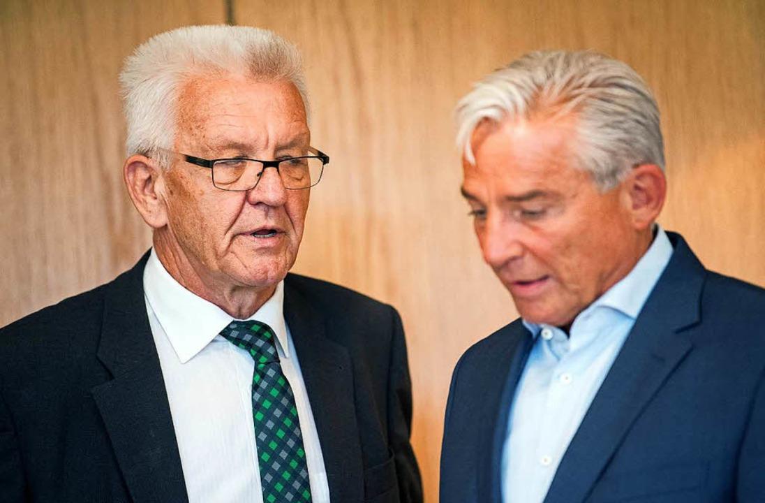Erleichtert: Kretschmann und Strobl  | Foto: dpa