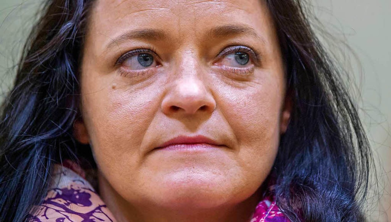 Am 438. Verhandlungstag zur Höchststra...: die Rechtsterroristin Beate Zschäpe   | Foto: dpa