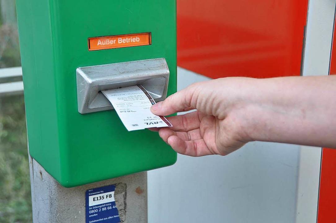 Zack, entwertet: Die RVL-Punktecard so...en und 13,50 Euro kosten (Symbolbild).  | Foto: Danel Gramespacher