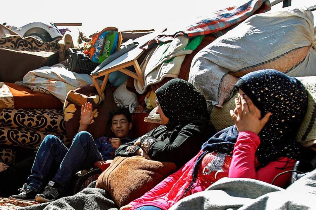 Der Krieg in Syrien vertrieb zahlreich...üchtete Syrer im benachbarten Libanon.  | Foto: dpa