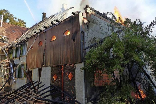 Großbrand in Dettighofen