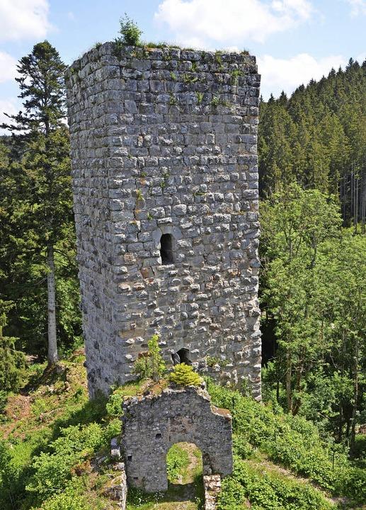 Der ursprüngliche Eingang in den Westt...n Turm und zogen die Leiter hinterher.  | Foto: Friedbert Zapf