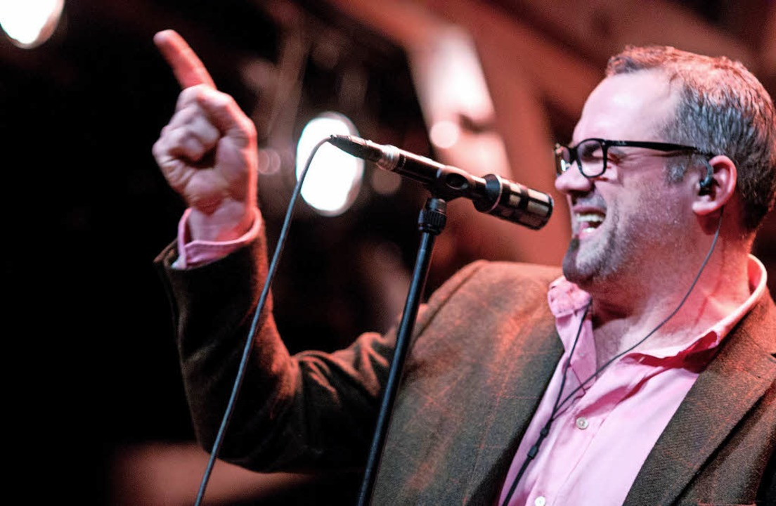 Jeff Cascaro auf der Bühne und im Porträt  (kleines Foto unten)   | Foto: Thomas Schloemann
