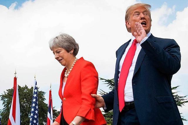Trump irritiert seine Gastgeber