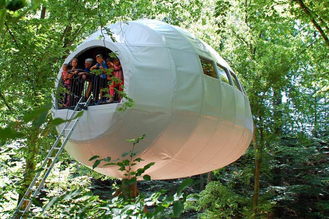 Tolle Sache: das neue Baumhaus beim Landschulheim Käfersberg  | Foto: puppe