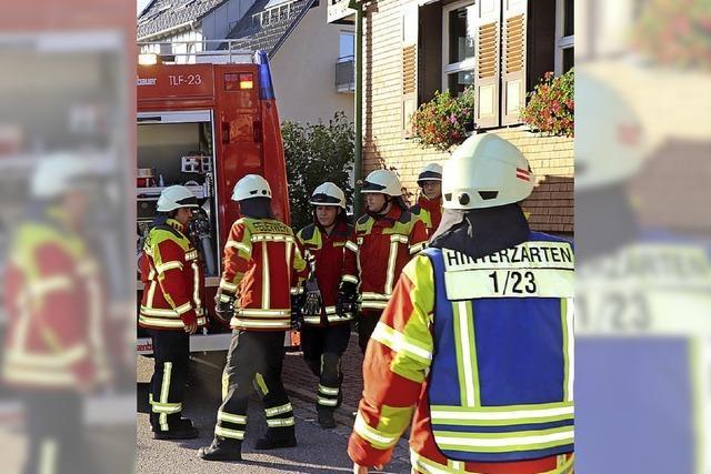 Feuerwehr setzt einen Notruf ab