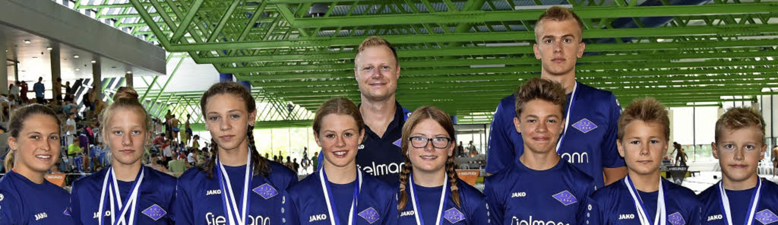 Das erfolgreiche Lahrer Team (vorne vo...fehlen Enzo Fath und Amelie Kaufmann.   | Foto:  Verein