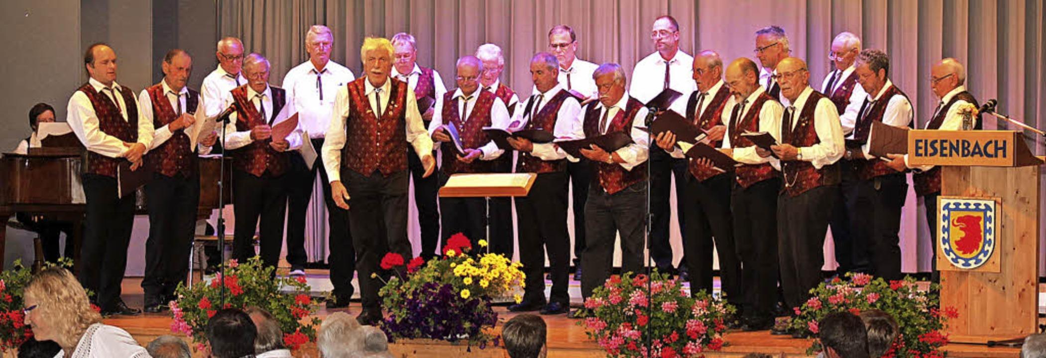 Der Männergesangverein Schollach machte seinem Namen Harmonie alle Ehre.   | Foto: Gert brichta