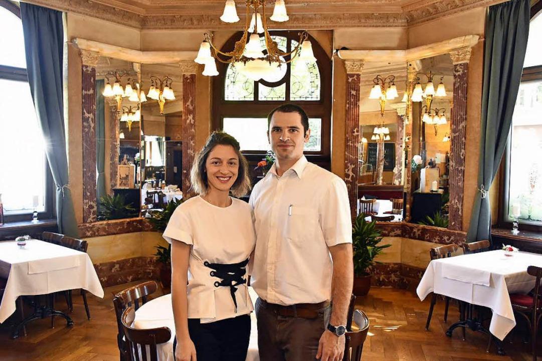 Taia Arabuli und Irakli Dvali sind die neuen Betreiber des Hotel Schiller.  | Foto: Michael Bamberger