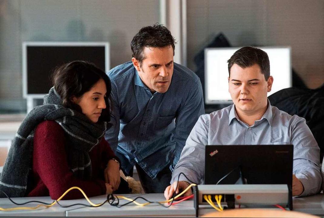 Deutschland braucht Fachleute, zum Bei... also der Informationstechnologie, ...    Foto: Marijan Murat