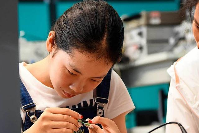 Chinesische Schüler besuchen Duale Hochschule in Lörrach
