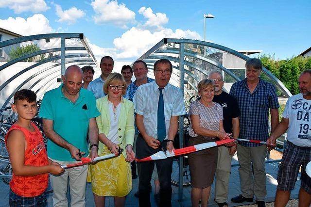 Am Bahnhof in Herten wurden neue Fahrradstellplätze eingeweiht