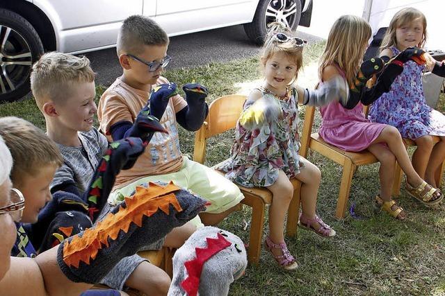 Kinderspiele beim Mieterfest