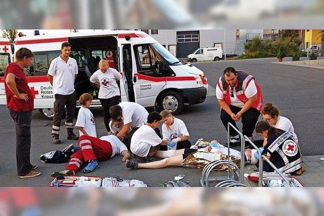 Rettung von Verletzten und Einsatz am Buffet