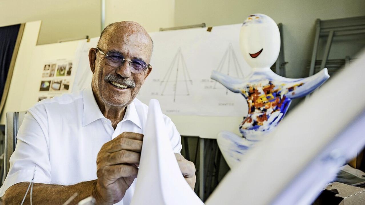 Peter Jordt an seinem künstlerischen Arbeitsplatz   | Foto: Daniel Schoenen