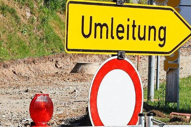 Straße zwischen Wehr und Bergalingen gesperrt