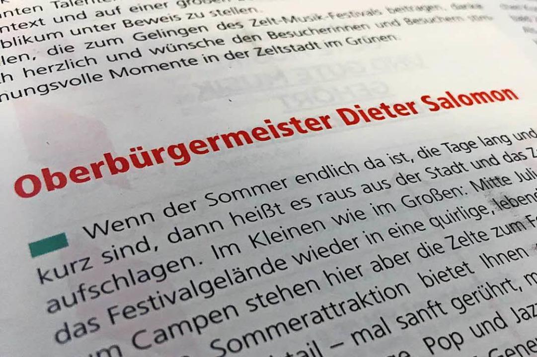 OB Dieter Salomon: 16 Jahre lang stimmte das.  | Foto: Konstantin Görlich