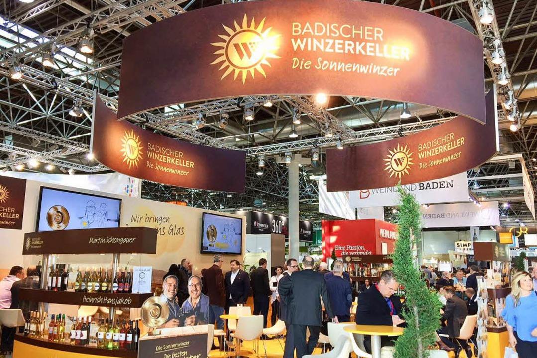 Auch bei Messen kommen die Weine des Badischen Winzerkellers gut an.    Foto: privat