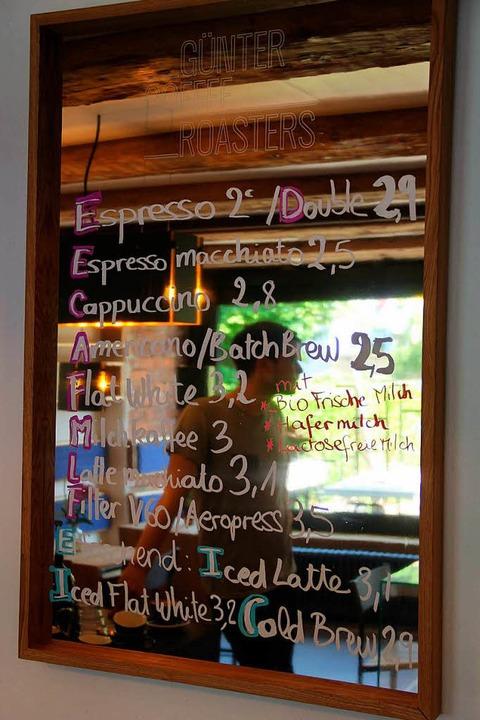 Ein Teil des Kaffee-Angebots.  | Foto: Felix Klingel