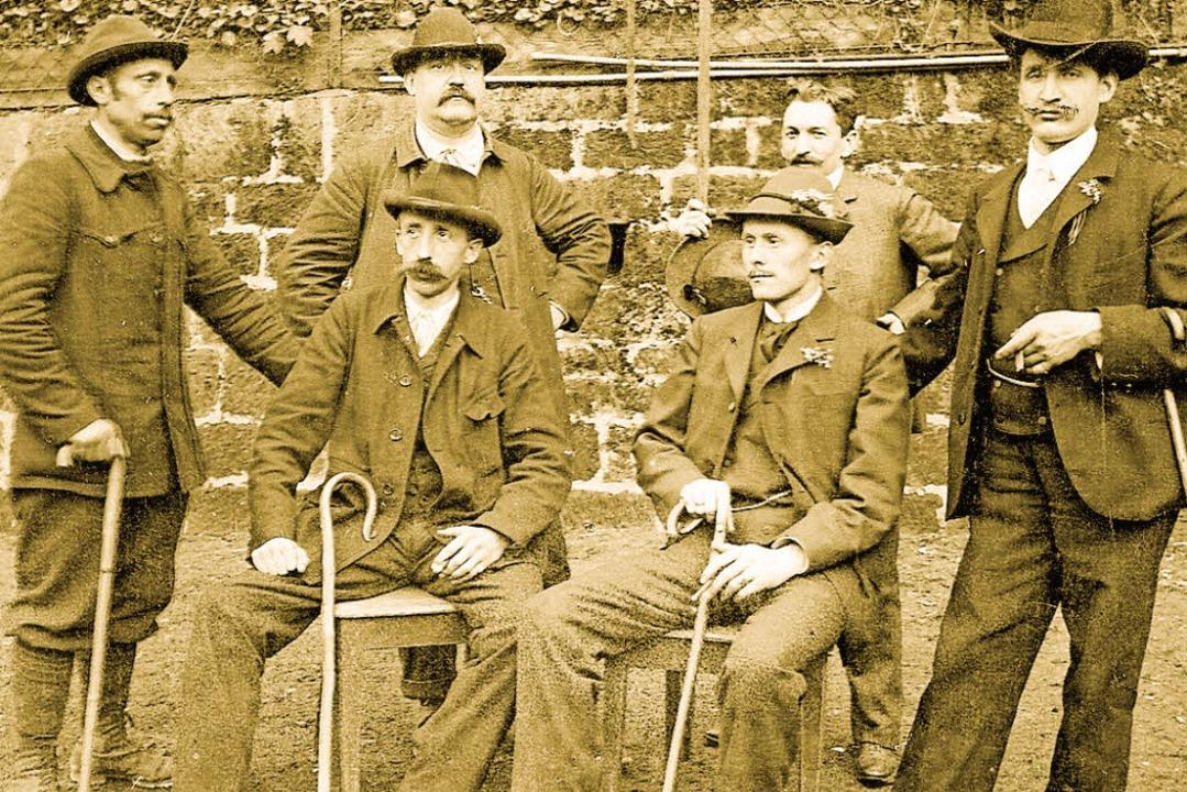 Die Gründer des Touristenvereins Berglust auf einem Foto aus dem Jahr 1905.  | Foto: Manfred Metzger (Repro)