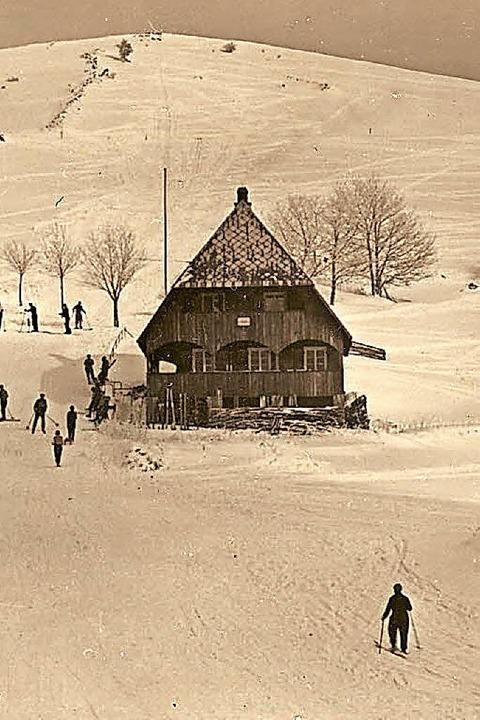Das Berglusthaus im Schnee, ein Bild von  1939.  | Foto: Manfred Metzger (Repro)