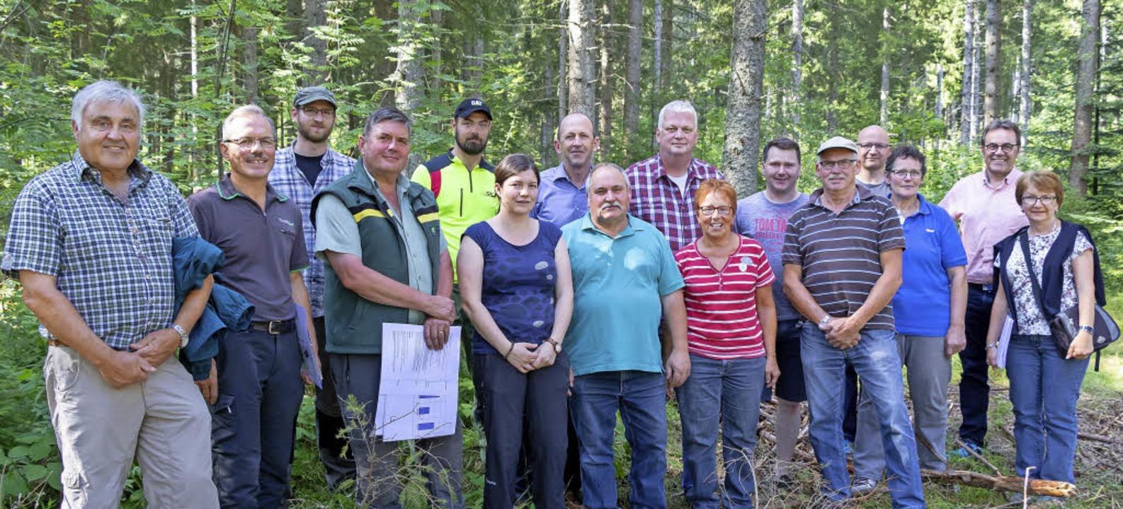 Forstexperten und Gemeinderäte zogen b...rst Grafenhausen ein positives Fazit.     Foto: Chris Seifried