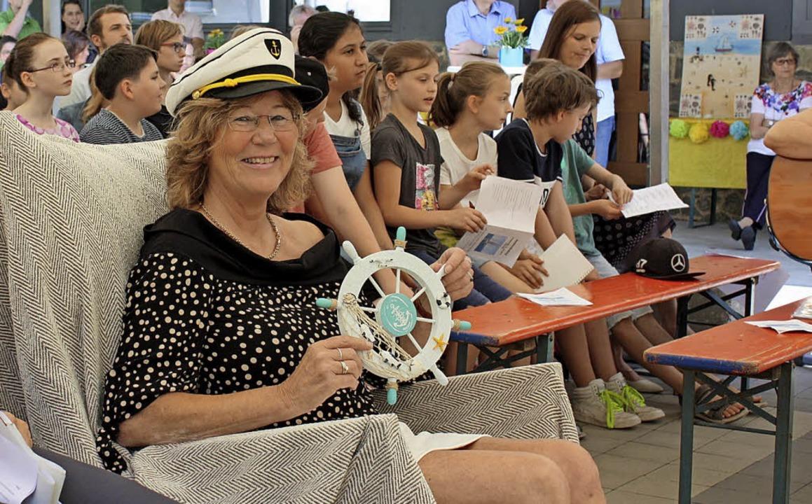 Christiane Huerkamp übernahm bei ihrer...teuer an der Fröbel-Schule in Wildtal.    Foto: Gabriele Fässler