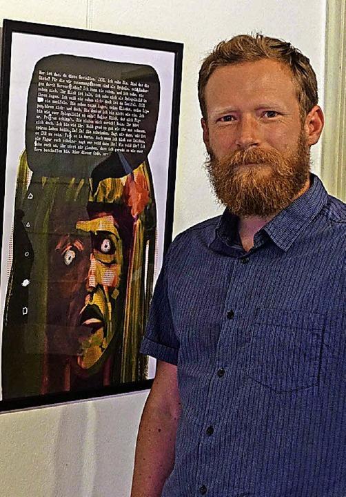 Comic-Künstler Paul Scher-übel.     Foto:  Roswitha Frey
