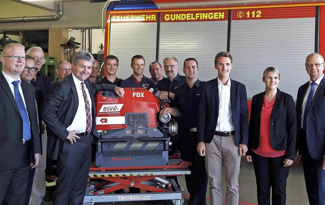 1600 Liter pro Minute kann die neue Sp...ein Geschenk der BVG, transportieren.     Foto: Andrea Steinhart
