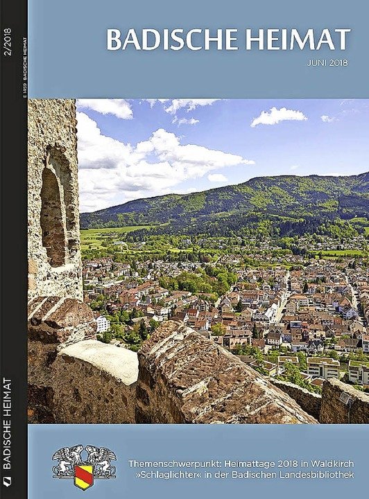 Die aktuelle Ausgabe der Zeitschrift &... 1100 Jahre Geschichte von Waldkirch.     Foto: ZVG