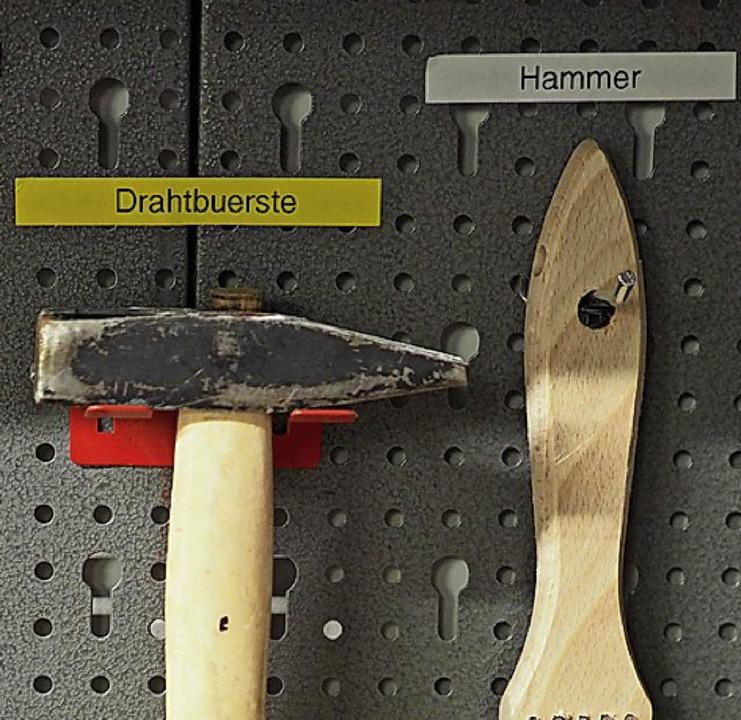Wo hängt der Hammer?   | Foto: Gilg