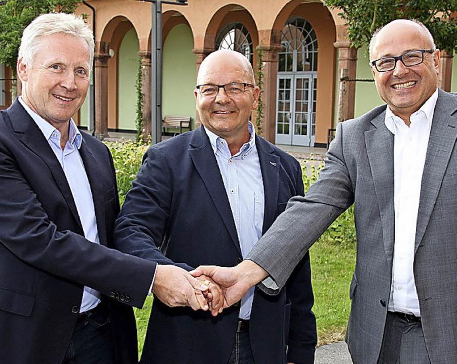 Leitungsteam nach der Fusion (v. l.): ...s-Peter Schendel und Alexander Huber.   | Foto: spr