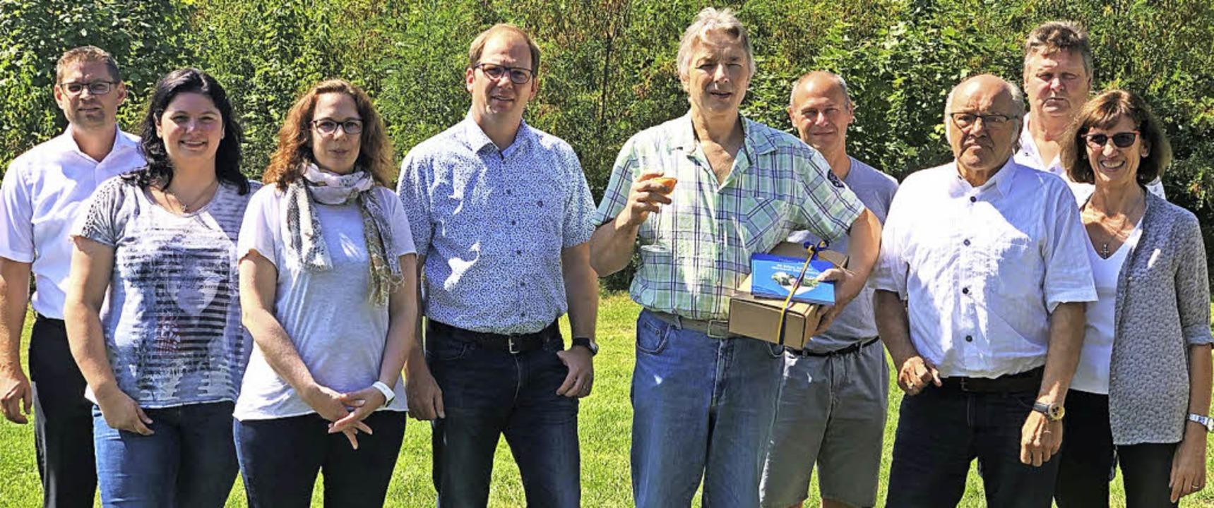 <BZ-FotoAnlauf>Bäckerei Heitzmann:</BZ-FotoAnlauf> Ehrungen für Helmut Bleile  | Foto: Privat