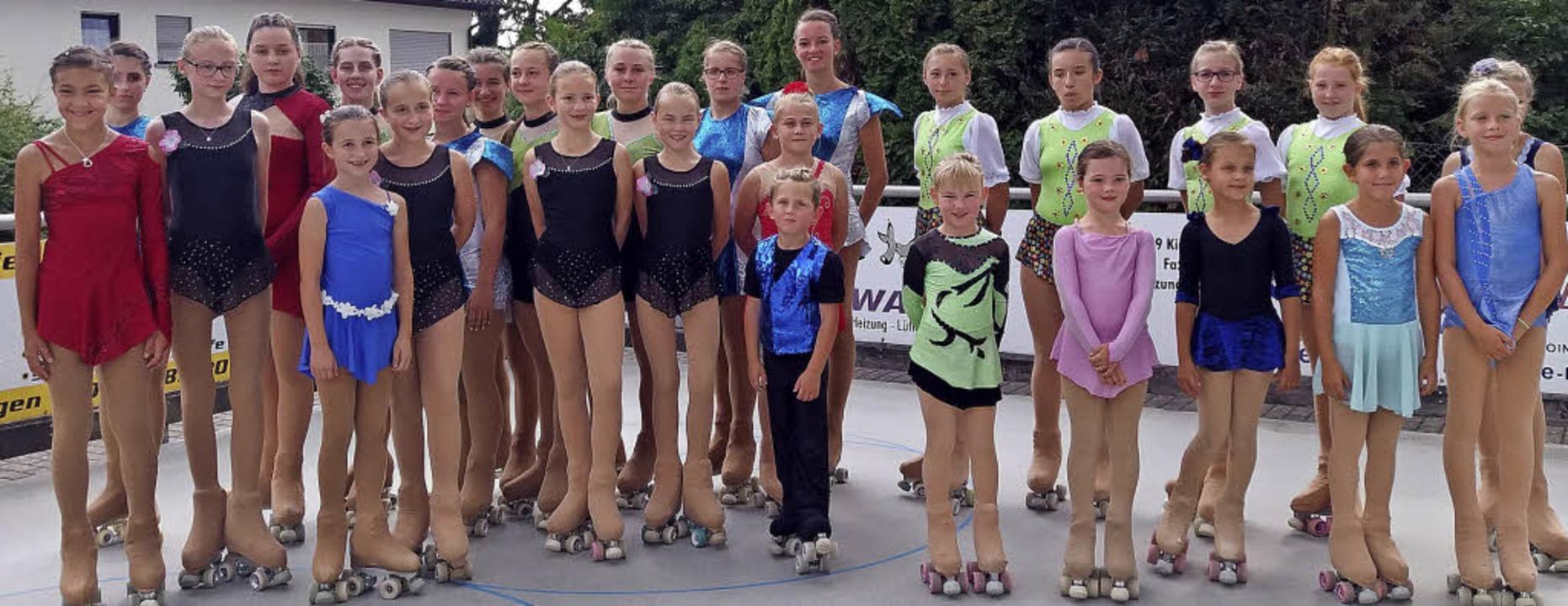 <BZ-FotoAnlauf>Rollkunstlauf:</BZ-Foto...ählte das Lahrer Team in Kieselbronn.   | Foto:  Verein