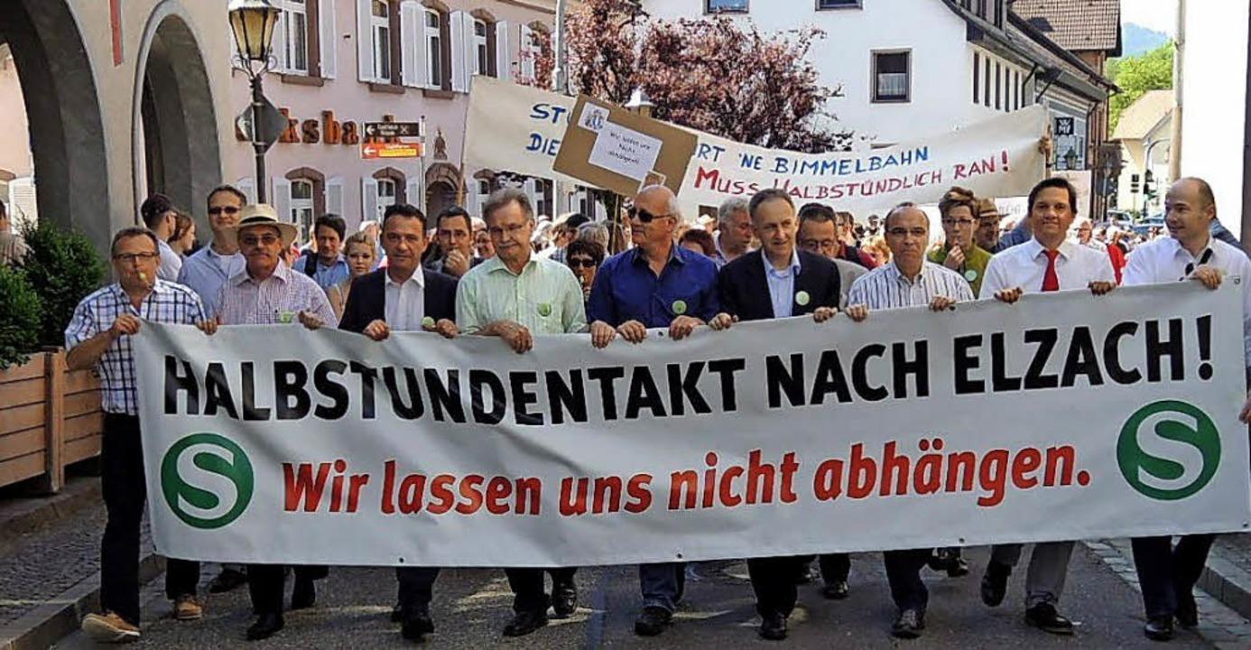 Schon einmal, 2013, wurde in Elzach fü... die Initiatoren auf viele Teilnehmer.  | Foto: Archiv Kurt Meier