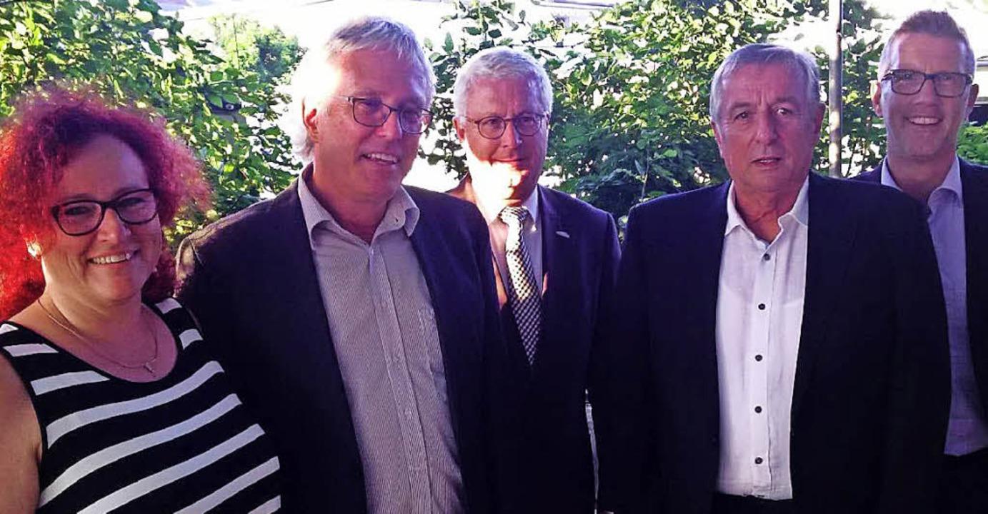 Christine Krauth, Gerhard Broß, OB  Wo... Raimund Röhrich und  Christoph Braun   | Foto: Stadtverwaltung