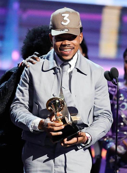 """Chance The Rappers """"Coloring Boo...-Album, das einen Grammy erhalten hat.    Foto: dpa"""