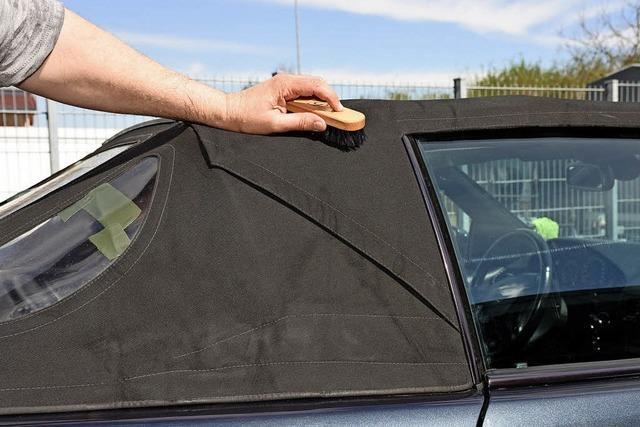 Textilpflege für das Autodach