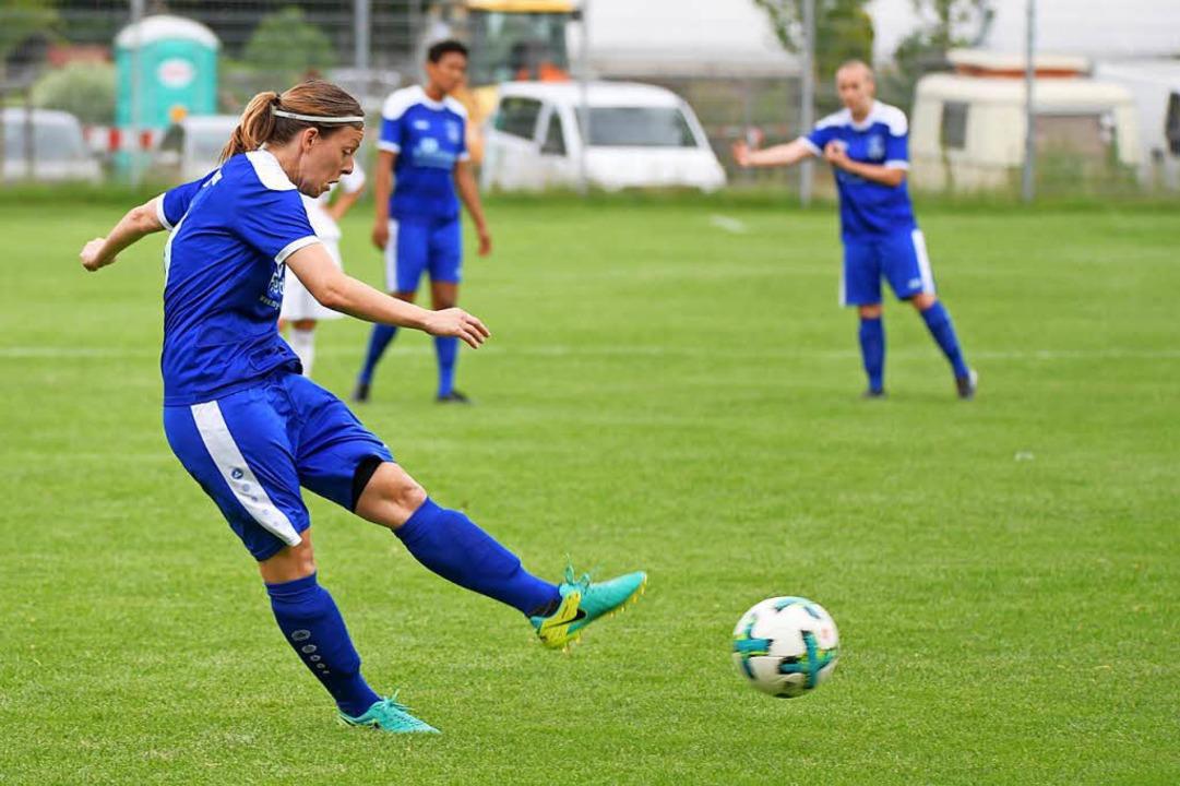 Juliane Meier, ehemals  SC Freiburg, g...enkönigin aus der Verbandsliga-Saison.  | Foto: Achim Keller