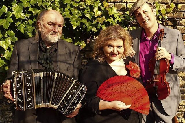Trio Nostalgia aus Kalrsruhe im Klostergarten Offenburg