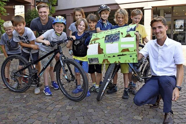 Kinder wollen legal mountainbiken