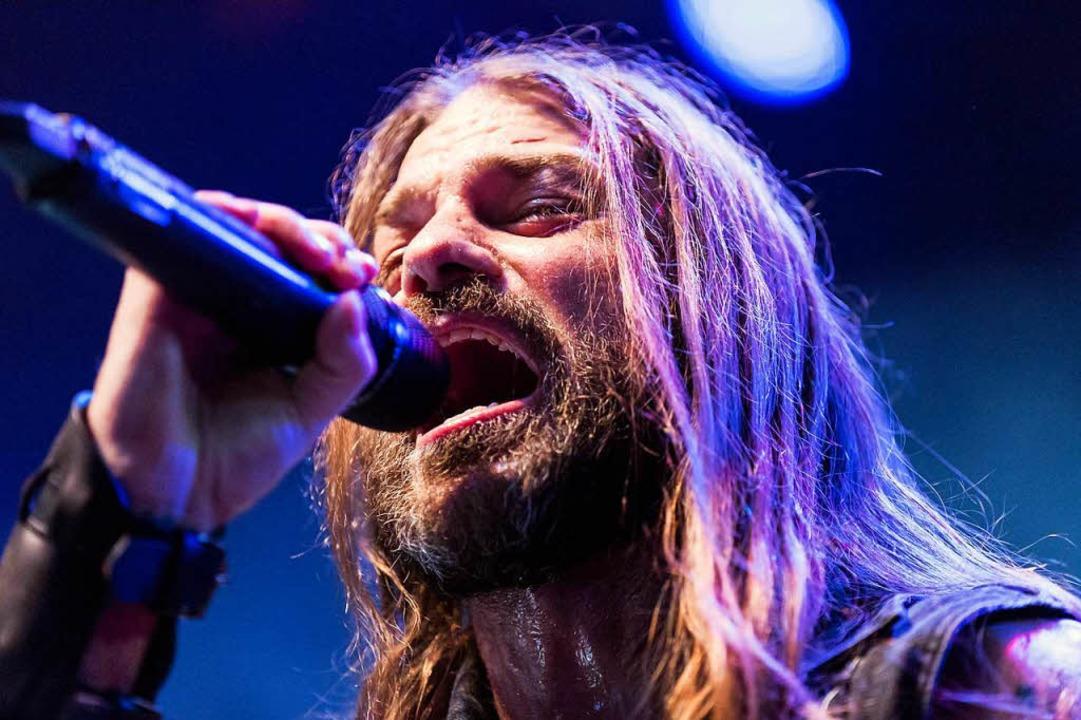 Stu Block, Sänger der Band Iced Earth.    Foto: Carlotta Huber