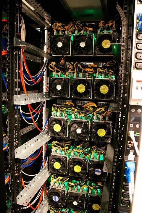 Blick in einen Bitcoin-Rechner  | Foto: Rolf Obertreis